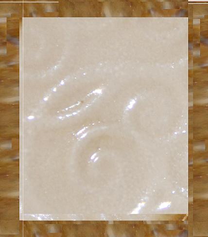 Blanc aspect marbre, bordé de marron